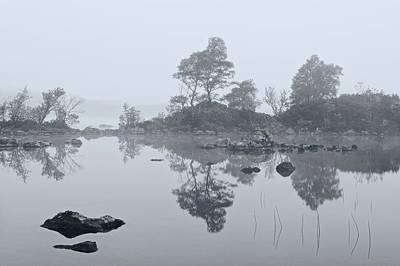 Digital Art - Morning Mist On Rannoch Moor by Stephen Taylor