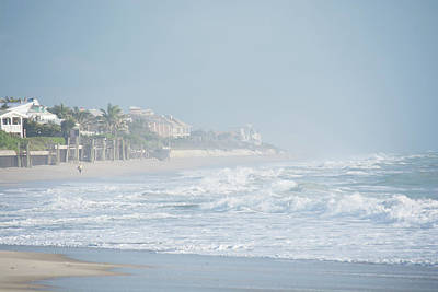 Photograph - Morning Mist On Vero Beach by John Black