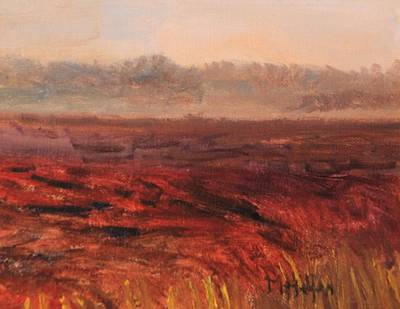 Painting - Morning Mist Over The Bog by Michael Helfen