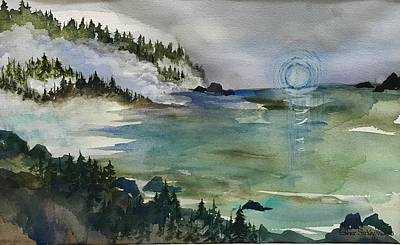 Painting - Morning Mist Pacfic North Coast by Esther Woods