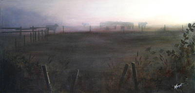 Morning Mist Art Print by Victoria Heryet