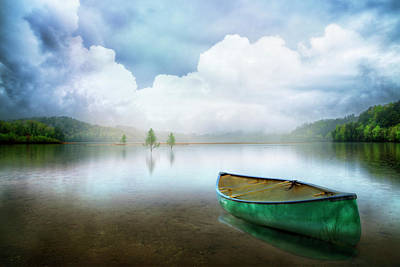 Photograph - Morning Mists On The Lake by Debra and Dave Vanderlaan
