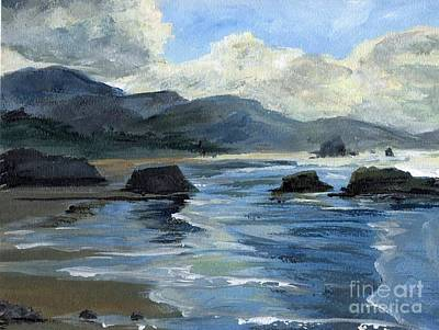Painting - Morning Mists Oregon Coast by Randy Sprout