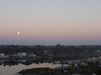 Photograph - Morning Moon by Cheryl Waugh Whitney