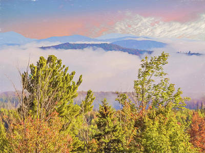 Digital Art - Morning Mountain View Northern New Hampshire. by Rusty R Smith