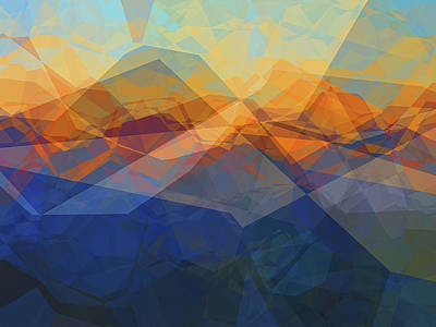 Digital Art - Morning Mountain View by Wendy J St Christopher