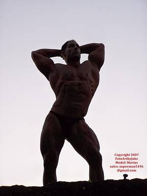 Pecs Digital Art - Morning Muscle  by Jake Hartz