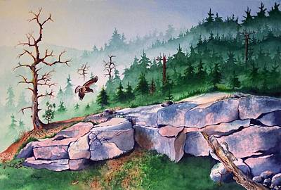 Painting - Morning Of The Hawk by Norman Freyer