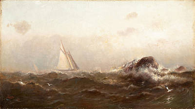 Arthur Quartley Painting - Morning Off Marblehead by Arthur Quartley