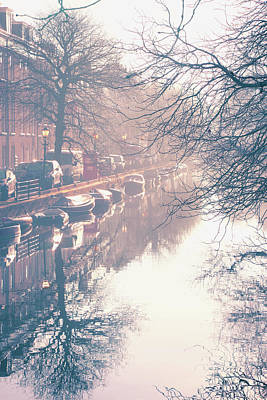 Photograph - Morning On A Canal by Iryna Goodall