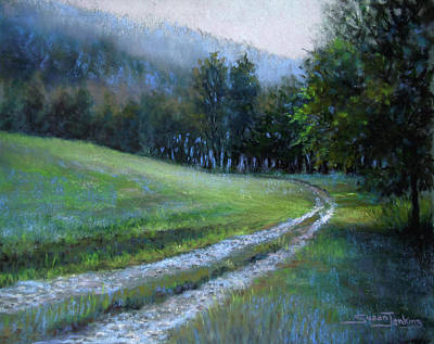 Pastel - Morning On Blue Mountain Road by Susan Jenkins