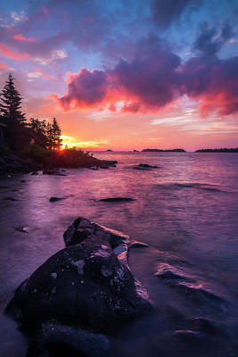 Photograph - Morning On Isle Royale by Owen Weber