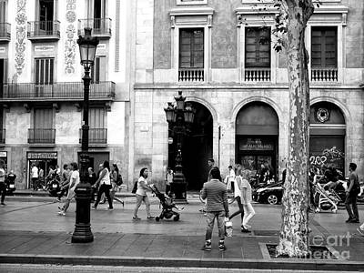 Photograph - Morning On La Rambla Barcelona by John Rizzuto