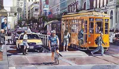Morning On Market Street Art Print
