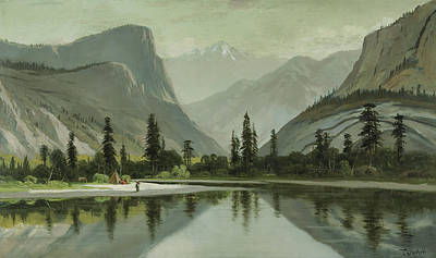 Yosemite Painting - Morning On Mirror Lake, Yosemite by Frederick Schafer