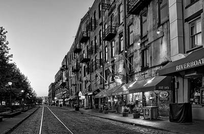 White Photograph - Morning On River Street In Black And White by Greg Mimbs