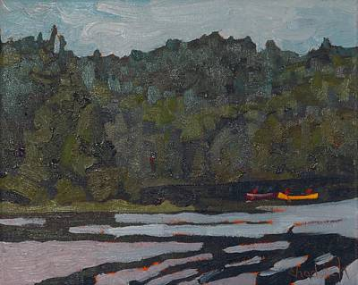 Painting - Morning On Robinson Lake by Phil Chadwick