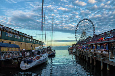 Photograph - Morning On Seattle Waterfront by Jonathan Nguyen