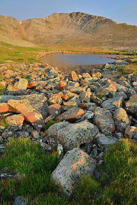 Photograph - Morning On Summit Lake Along Mt. Evans Highway by Ray Mathis