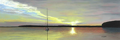 Pastel - Morning On The Bay by George Burr