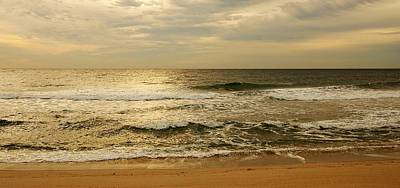 Peaceful Landscape Photograph - Morning On The Beach - Jersey Shore by Angie Tirado