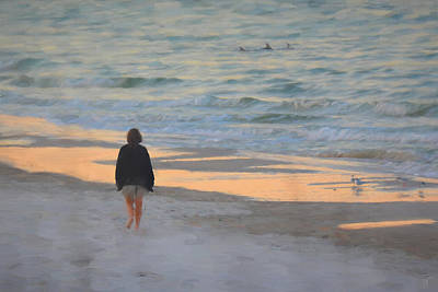 Morning On The Beach Art Print by Jai Johnson