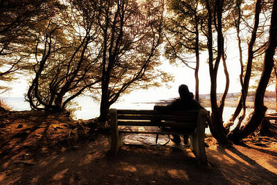 Photograph - Morning On The Bench by Rick Berk