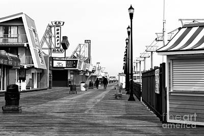 Morning On The Boardwalk Art Print by John Rizzuto