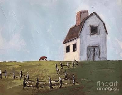 Farmhouse Painting - Morning On The Farm by Chandra Savaso