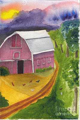 Painting - Morning On The Farm by Conni Schaftenaar