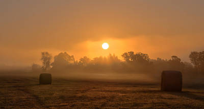 Morning On The Farm Print by Ron  McGinnis