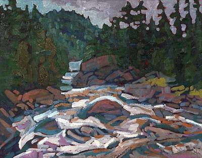 Quebec Painting - Morning On The Grande Chute by Phil Chadwick