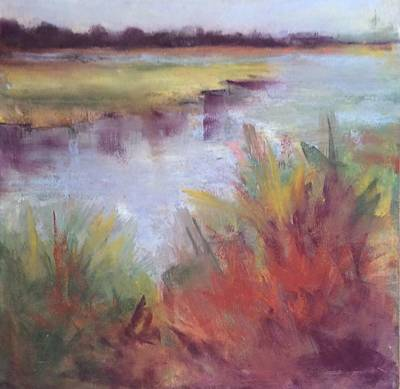 Painting - Morning On The Marsh by Karen Ann Patton