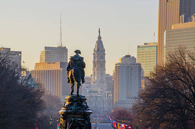 Photograph - Morning On The Parkway - Philadelphia by Bill Cannon