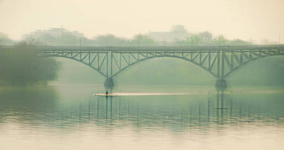 Morning On The Schuylkill River - Strawberry Mansion Bridge Art Print