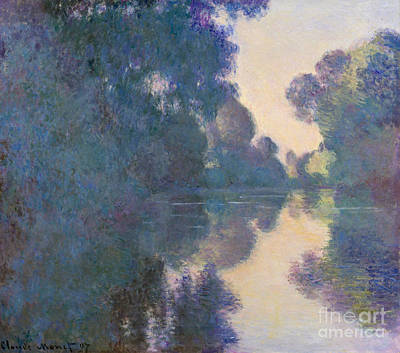 River View Painting - Morning On The Seine Near Giverny, 1897 by Claude Monet