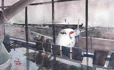 Painting - Morning Over Heathrow by Gaston McKenzie