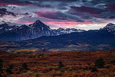 Morning Over The Rockies Art Print by Andrew Soundarajan