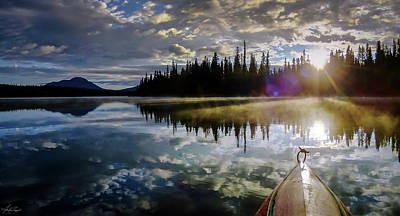 Photograph - Morning Paddle On Shunda Lake by Karen Rispin