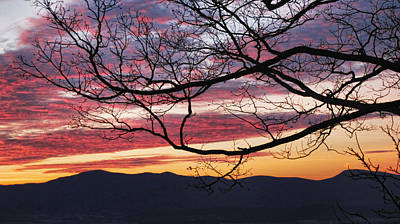 Photograph - Morning Painted Blue Ridge Skies by Lara Ellis