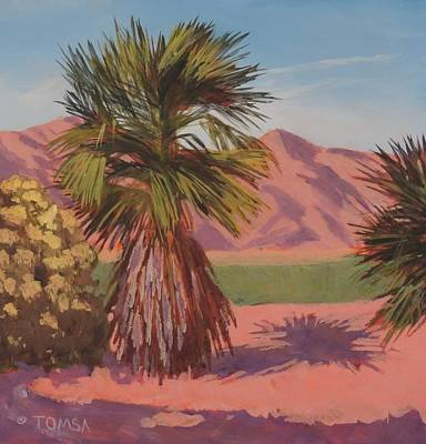 Painting - Morning Palm Tree - Art By Bill Tomsa by Bill Tomsa