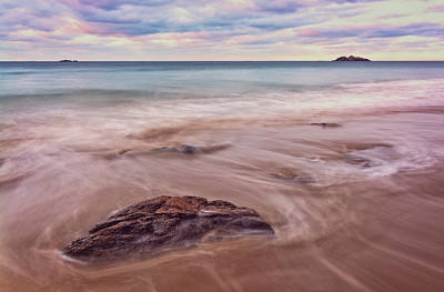 Photograph - Morning Pastels Singing Beach Ma by Michael Hubley