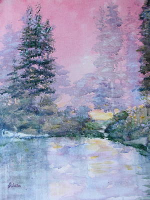 Painting - Morning Pond by Judy Fischer Walton