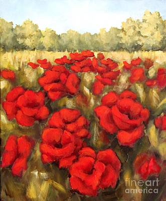 Morning Poppies Art Print by Inese Poga