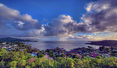Morning Rain In Kaneohe Bay Art Print