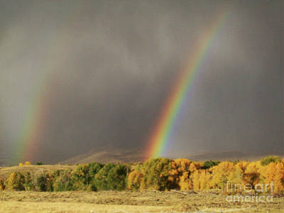 Photograph - Morning Rainbow In Wyoming by Dawn Senior-Trask
