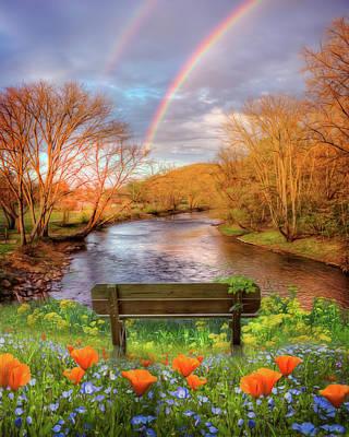Photograph - Morning Rainbow Mists by Debra and Dave Vanderlaan