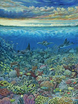 Underwater View Painting - Morning Rays by Danielle Perry