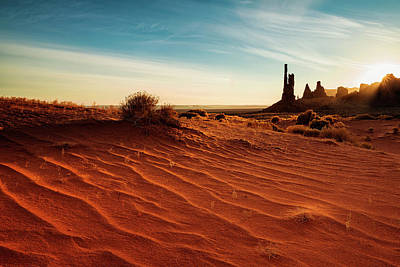 Photograph - Morning Rays Over Monument Valley by Andrew Soundarajan