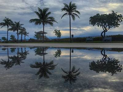Photograph - Morning Reflection Delray Beach Florida by Lawrence S Richardson Jr